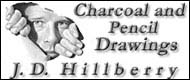 Pencil drawings by J.D. Hillberry - trompe l'oiel and western art.