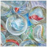 A pastel tutorial working with reflections, shadows and folded material by Karen Hargett